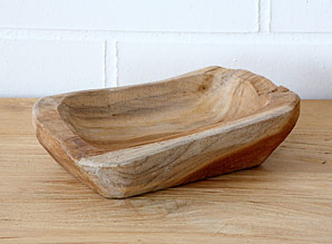 miska - kořenové dřevo - teak | A08250_HN2