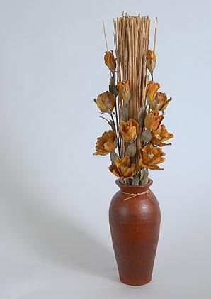 aromadekoaranž - váza + celulózové květy + aromadekorace   A08475_A