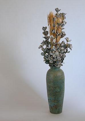 aromadekoaranž - váza + celulózové květy + aromadekorace   A08476_A