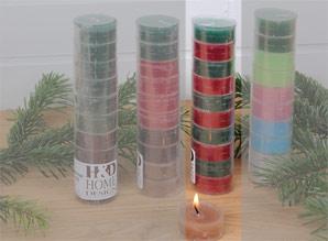 svíčky čajové - sada 10 ks | A08550_VCV