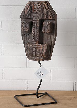 hlava dekorativní - dřevo - teak | A08560_HN2