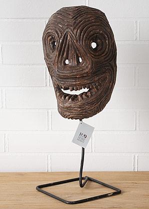 hlava dekorativní - dřevo - teak | A08570_HN2