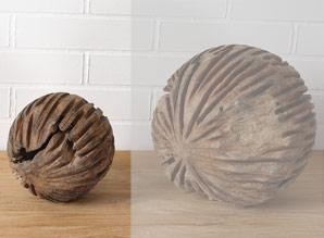 koule dekorační - kořenové dřevo - teak | A08590_HN2