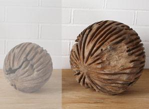 koule dekorační - kořenové dřevo - teak | A08591_HN2