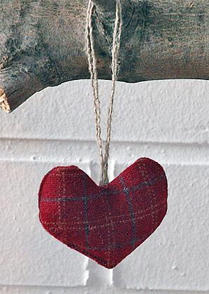 dekorace závěsná - srdíčko | A08911_KCV