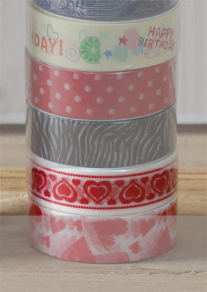 páska lepící - srdíčka - 1,50 x 1000 cm   A09000_BI1