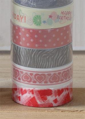 páska lepící - srdíčka rozličná - 1,50 x 1000 cm   A09000_BI3