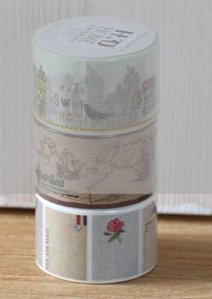 páska lepící - růžičky - 3 x 1000 cm   A09001_VBE