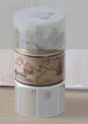 páska lepící - námořní mapy - 3 x 1000 cm   A09001_VHN