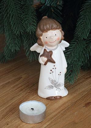 dekorace - andílek - keramika | A09010_VBI