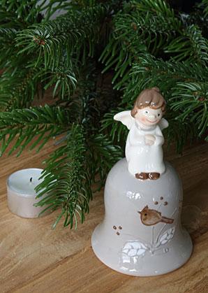 dekorace - zvoneček s andílkem - keramika | A09020_VSE
