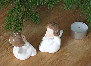 solnička a pepřenka andílci - keramika | A09040_VBI