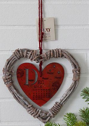 dekorace - srdce závěsné s popisem  | A09390_VCV