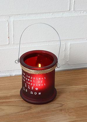 lucerna skleněná s nápisem | A09550_VCV