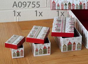 dárkové krabičky - menší set 3 ks - A09751, 52 a 53 | A09755_VZE
