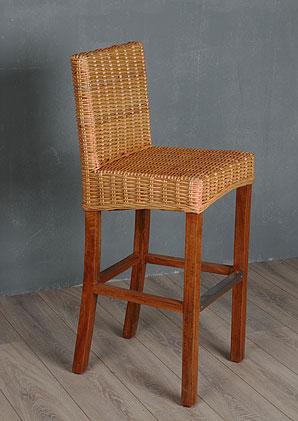 židle barová s hliníkovou trnoží - ratan  RC 7mm - honey | A10316_VCA