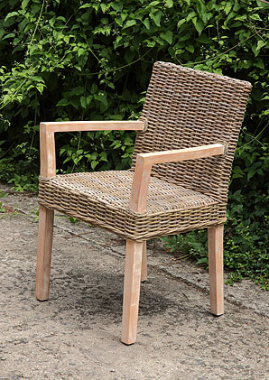 židle s područkami - ratan - kubu | A10690_BE2