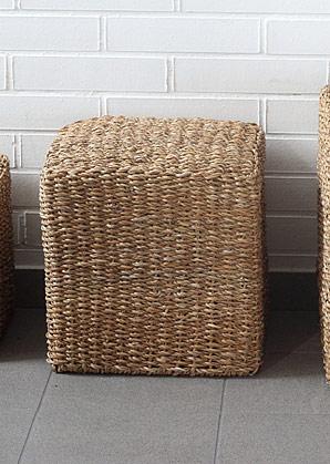 taburet - čtverec - mořská tráva | A13052_BE3