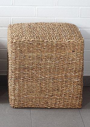 taburet - čtverec - mořská tráva | A13053_BE3