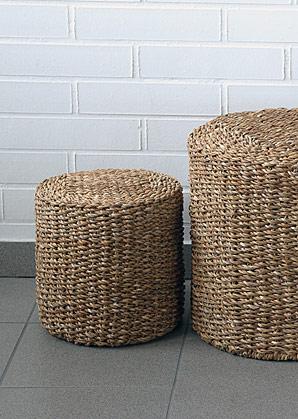 taburet - válec - mořská tráva | A13061_BE3