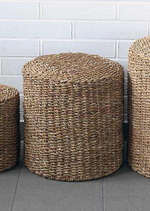 taburet - válec - mořská tráva | A13062_BE3