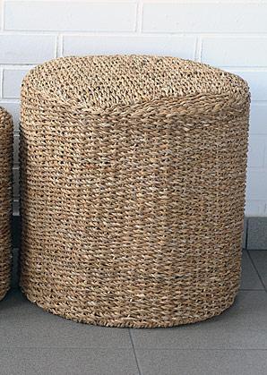 taburet - válec - mořská tráva | A13063_BE3