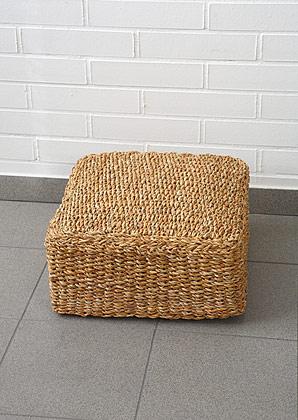 taburet - čtverec - mořská tráva | A13070_BE3