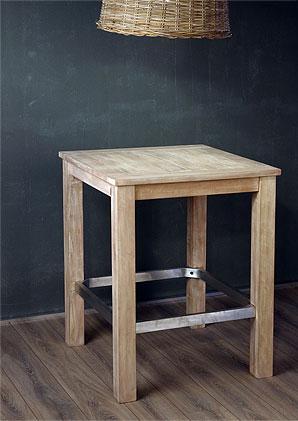 stůl barový s hliníkovou trnoží - masiv - mango | A20155_BE1