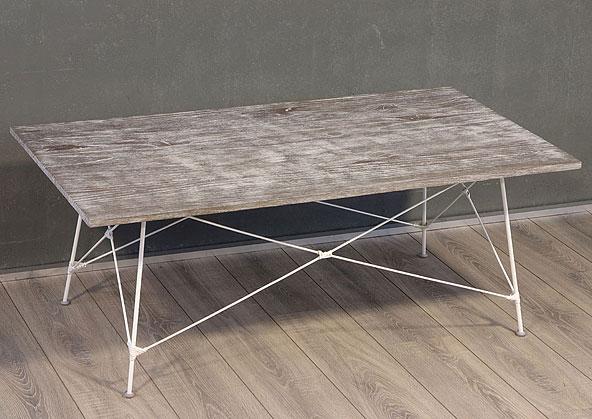 stolek - masiv deska - kovové nohy | A20840_VBI