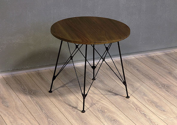 stolek - masiv deska - kovové nohy | A20850_VCE