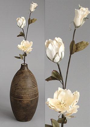 dekorace - celulozové květiny | A70310_BE1