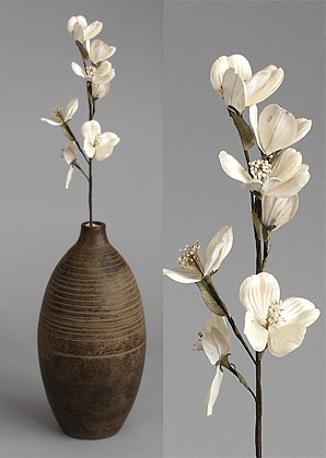 dekorace - celulozové květiny | A70330_BE1