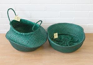 košík - taška - mořská tráva - 1 ks | AKD0230_ZE2