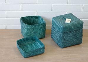 košík s víkem - mořská tráva - 1 ks | AKD0243_MO4