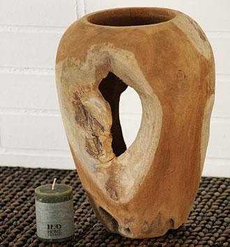 váza - kořenové dřevo - teak | AVD6100_HN2