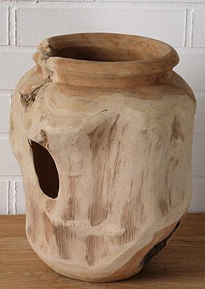 váza - kořenové dřevo - teak | AVD8870_HN2