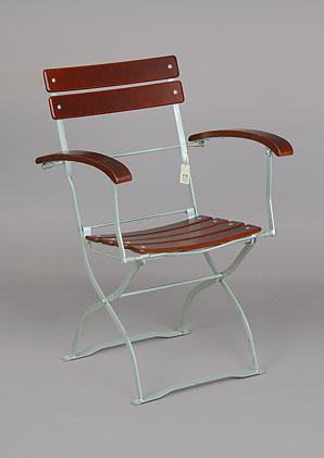 židle skládací - jasan - široké laťování   AZN05z_VHN