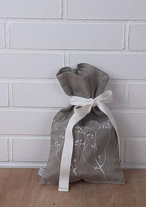 sáček dárkový - zavazovací - 100% len | B75070_BE3
