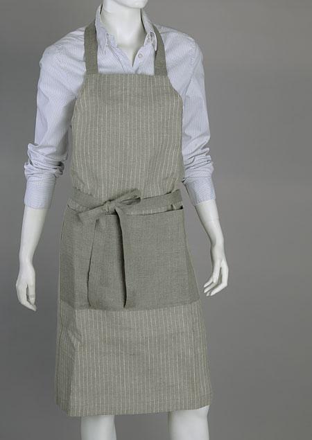 zástěra - kuchařská - 100% len | M91123_CBE