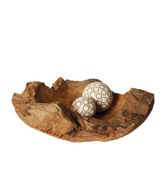 mísa - kořenové dřevo - teak | A00270