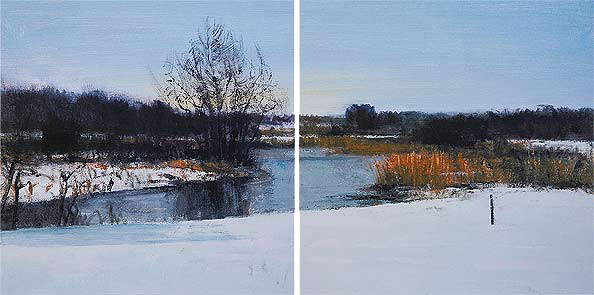 obraz 2 ks 60x60cm - laminované plátno | A02273