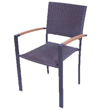 židle - syntetický ratan, kov - hliník   A10380_HN2