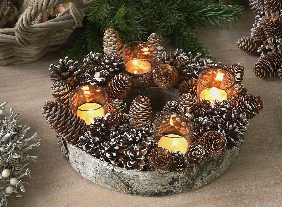 Adventskranz naturmaterial glas h d home design for Adventskranz selber machen youtube