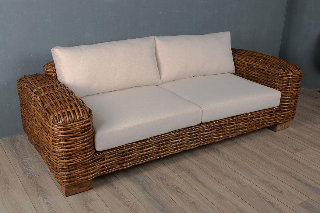Ratan sofa sofa rattan cl h d home design thesofa for Sofa rattan jardin
